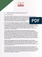 DCFTA Letter to Evans