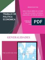 TRABAJO DE POLITICA ECONOMICA - SUSTENTACIÓN