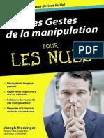 Les Gestes de La Manipulation Pour Les Nuls - Joseph Messinger 2012