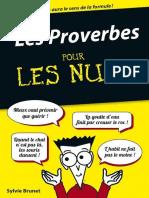 Les Proverbes Pour Les Nuls - Sylvie Brunet 2015