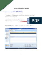 Outlook 2007 Calendar