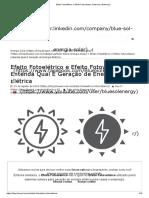 Efeito Fotoelétrico X Efeito Fotovoltaico_ Entenda a Diferença