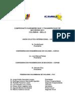 CONVOCATORIA CAMPEONATO SURAMERICANO Y PANAMERICANO  BELLO ANTIOQUIA