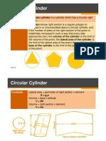 V = Bh (Circular & Right Circular Cylinders) ER1