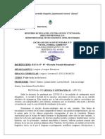 PROGRAMA DE 2º AÑO LENGUA Y LITERATURA 20214