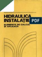 Hidraulica Instalatiilor - Elemente de Calcul Si Aplicatii