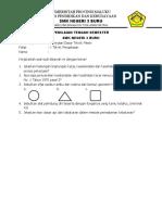 Soal PTS PDTM_X TP
