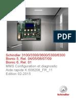 Code Defaut Schindler 3100 a 5300
