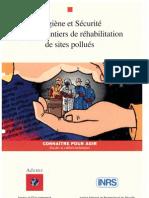 Ademe - INRS Hygiène et Sécurité sur les chantiers de réhabilitation de sites pollués (1995)