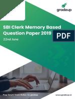 Sbi Clerk Prelims Question Paper in Hindi 2019 47