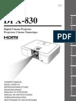 DPX-830 Manual
