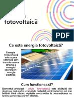 Energia fotovoltaică