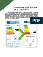 Ce produse vor face obiectul reclasificării etichetelor energetice acum și în viitor?