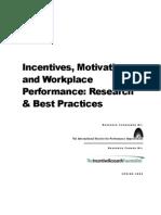 research and best practices employee motivatiun report