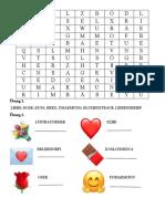 VALENTINSTAG ARBEITSBLATT