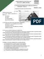 Ficha nº3 - Variação da temp com fatores do clima