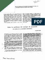 Bellak, sobre los problemas del concepto de proyeccion. Capítulo 1