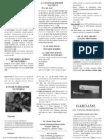 Pliant Gardasil flacon 1 - Vaccinul anti-HPV - Un vaccin periculos - Dr. Christa Todea-Gross