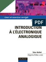 Tahar Neffati - Introduction à l'Électronique Analogique _ Cours Et Exercices Corrigés-Dunod (2008)