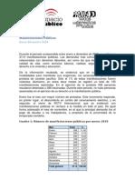 Informe de manifestaciones públicas en 2010