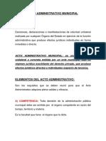 Acto Administrativo Municipal