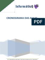 Cronograma das Aulas de Informática da MG Informátic@