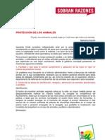 PROGRAMA DE GOBIERNO 2011 - DOS HERMANAS - PROTECCIÓN ANIMALES