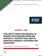 Cien años de Revolución de Octubre - Tesis sobre la democracia burguesa y la dictadura del proletariado