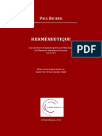 4B8AE50D61C44088B520BC2D531B46C1 Hermeneutique. Cours de Louvain - Texte Integral PDOC