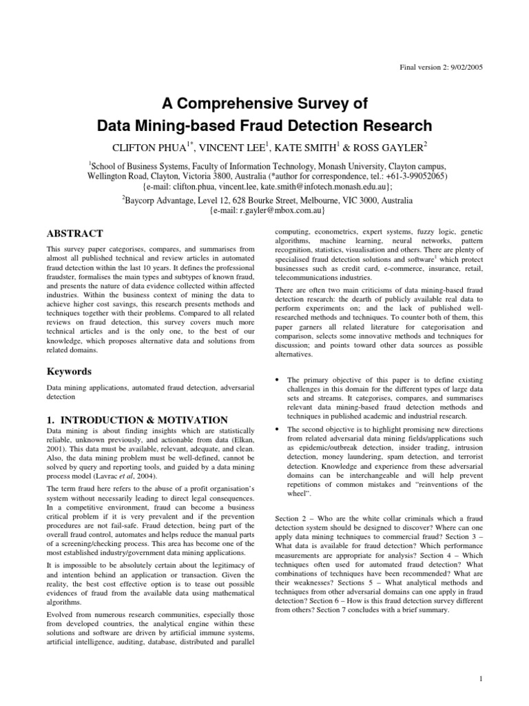 A comprehensive survey of fraud detection receiver operating a comprehensive survey of fraud detection receiver operating characteristic artificial neural network colourmoves