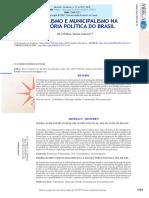 FEDERALISMO E MUNICIPALISMO NA TRAJETÓRIA POLÍTICA DO BRASIL
