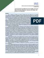 Reporte Nº 20 Proyecto País