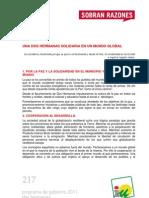 Programa de Gobierno 2011 - Dos Hermanas - Paz y Solid Arid Ad