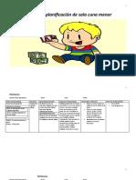 Cuadernillo de planificacion de sala cuna menor