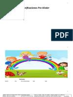 Cuadernillo de planificación prekinderdocx