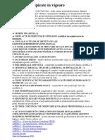 Documente Tipizate in VigoareSEOSP