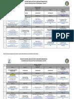 CRONOGRAMA ENCUENTROS VIRTUALES 6° A 11° 2021