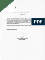 DECLARACIONES JURADAS PARAQUITARSE EL SOMBRERO