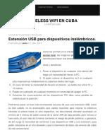 Extensión USB para dispositivos inalámbricos