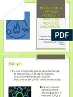 PRODUCCIÓN DE GAS METANO A PARTIR DE RESIDUOS