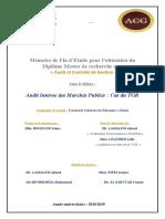 AUDIT INTERNE DES MERCHES PUBLICS FIN