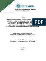 MAESTRO - SANTOYO PARDO JOSÉ FERNANDO
