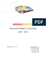 Asian Paints BS Analysis