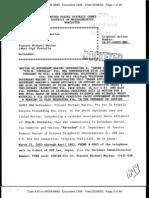 04.29.2003 (docketed 05.08.2003) Sworn Affidavit of Kim M. Portalia
