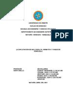 GRUPO 2. EXPLOTACION DE GAS, ASFALTO, ORIMATITA Y COQUE EN VZLA (1)