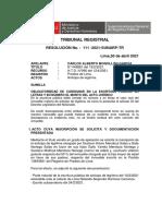 Letras y Numero en El Acto Juridico 111-2021-SUNARP-TR