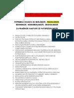 Patofiziologija i Farmakologija Prethodna znanja