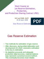 reserve estimation - gas