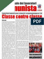 Giornale comunista febbraio 2011