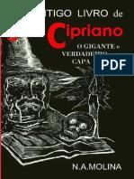 Antigo Livro de São Cipriano - O Gigante e Verdadeiro Capa de Aço